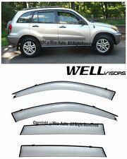 WellVisors Side Window Visors Deflector Premium Series For 01-05 Toyota RAV4