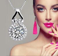 Silberkette mit Anhänger Halskette Luxus Geschenk Silber Damen Schmuck für Sie