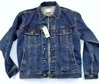 New Wrangler Rugged Wear Denim Jacket Men's Size XL Indigo FREE WRANGLER T-SHIRT