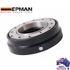 *BLACK* EPMAN RACING THIN QUICK RELEASE SNAP OFF STEERING WHEEL HUB ADAPTER