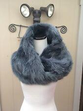 NEW Women Winter Faux Blue MINK Fur Neck Scarf Collar Shawl Wrap Scarves Stole