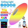 30W E27 LED Ceiling Light RGB bluetooth Music Speaker Dimmable APP With Remote