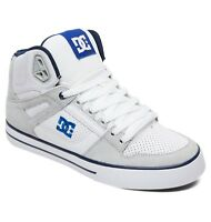 DC SHOES MENS HI TOP TRAINERS.NEW BOXED PURE WHITE LEATHER HIGH TOP BOOTS 9S 43W