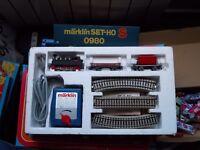 TRAIN SET - TREN - MARKLIN SET S H0 0980 - LOCOMOTORA y VAGONES