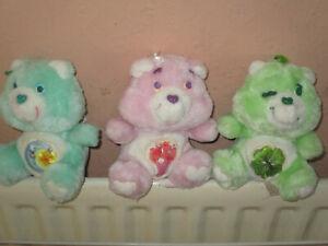 Vintage care bears share bear,Luck bear and bedtime bear.