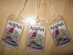 Delta Airlines Atlanta Luggage Tags - Vintage DL ATL Playing Card Name Tag (3)