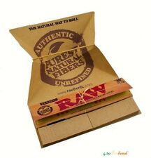 RAW Classic Artesano Natural Hemp Rolling Papers+Filter Tips+Tray King Size Slim