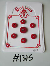 #1315 Lot of 7 Red Buttons