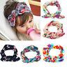 Baby Kinder Bandana Blumen Haarband Stirnband Kopfbedeckung Blumig Hasenohren