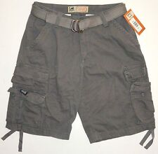 New NWT Mens 30 Lee Cargo Shorts Grey Cotton Relaxed MSRP $40.00 Free Shipping