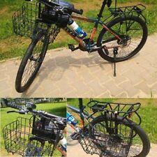 Foldable Back Basket Metal Wire Bicycle Bike Rear Cycling Basket