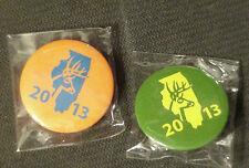 2013 Illinois Deer Harvest Pins  -  Bow & Shotgun
