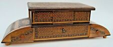 Antique Musical JEWELRY BOX, Tunbridge  Marquetry  ENGLISH 1800s Thorens