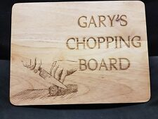 Personalised Wooden Cheese Chopping Board, Any Message Engraved Gift Anniversary