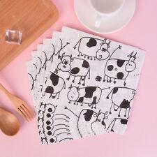 20pcs lovely cow soft decoupage napkin paper tissue for Christmas wedding decor&