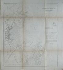 Original 1863 Coast Survey Chart Map ROCKLAND HARBOR & VICINITY Maine Lighthouse