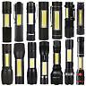 Tactical Mini COB LED Flashlight 14500/AA Torch Working Pocket Pen Lamp Portable
