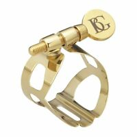 BG Model L50 'Tradition' Ligature with Cap for Soprano Saxophone in Gold Lacquer