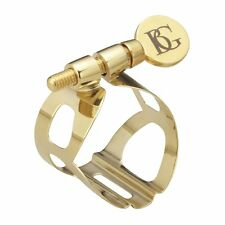 BG L50 Tradition Ligature with Cap for Soprano Saxophone in Gold Lacquer