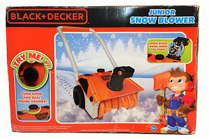 Black Decker Junior Toy Snow Blower Sounds Action 3+ Kids Pretend Push Toy IOB