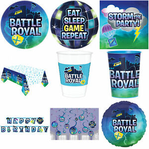 Battle Royal Gaming Themed Party Decorations Tableware Foil Balloon Banner