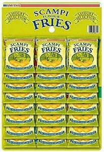 Smiths Scampi Fries Carded Pub Snacks, 27g - Pack of 24