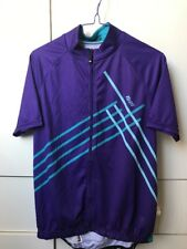 Netti Purple Turquoise Blue Stripes Ladies Cycling Jersey Top-Size 10-New