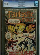 FANTASTIC FOUR #8 CGC 3.0 1ST APPEARANCE OF PUPPET MASTER 1962 JACK KIRBY BLUE