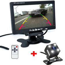 "7"" TFT LCD Monitor + LED IR Reversing Backup Camera Car Wireless Rear View Kit"
