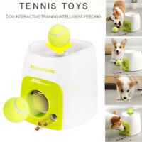 Dog Pet Training Thrower Ball Interactive Toys Tennis Launcher Pet Food Reward