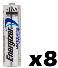 8 EIGHT Energizer Ultimate Lithium AA NEW Batteries L91, FR6, LR6 EXP 2028