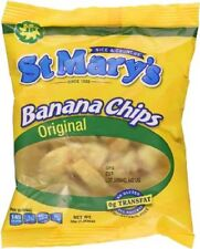 12 st marys banana chips original nice crunchy gluten free snack all natural 30g