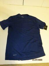 Nike Men's Size Large Dri-Fit Training Top Cargo Blue/Black 848888 Large