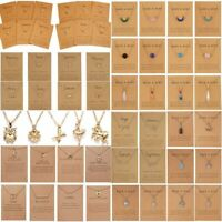 Fashion Heart Animals Card Pendant Pendant Necklace Charms Women Clavicle Chain