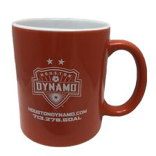 "Houston Dynamo Coffee Mug MLS Soccer Team Orange White Ceramic Cup 3 7/8"" Tall"
