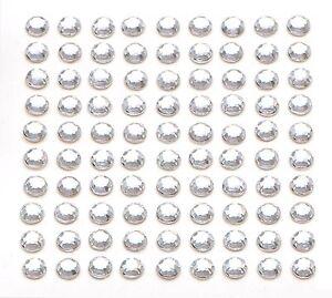 200 x 5mm Self Adhesive Clear Diamante Stick on Crystals Sticky Rhinestone Gems
