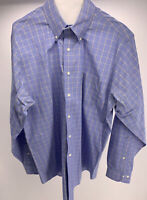 Brooks Brothers Long Sleeve Blue Check Button Down Shirt Mens Size 16-4/5