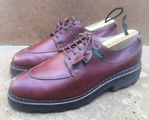Paraboot Split Norwegian Toe Burgundy Leather Women's Shoes Size Uk 4.5 D US 6.5