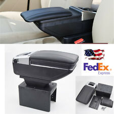 Universal Base Adjustable Car Central Armrest PU Leather Holder Accessories