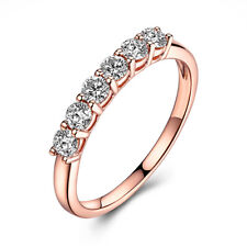 0.43ct Genuine Moissanite Halo Solid 14K Rose Gold Ring Fashion Jewelry Bands