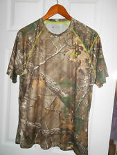 Under Armour REALTREE Xtra Camo T Shirt Heatgear Loose Fit Men's Size Large