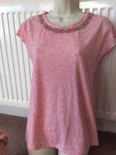 Waist Length Short Sleeve Textured Basic T-Shirts for Women