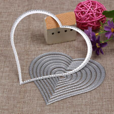 10 x Heart Cutting Dies Stencil Scrapbook Paper Cards Embossing Craft DIY Tool