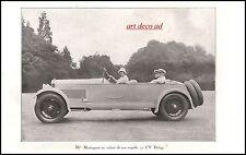 Publicité Automobile Delage Torpedo & MISTNGUETT car vintage  ad  1927