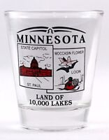 MINNESOTA STATE SCENERY RED NEW SHOT GLASS SHOTGLASS