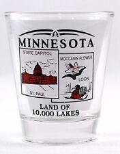 MINNESOTA STATE SCENERY RED NEW SHOT GLASS SHOTGLASS