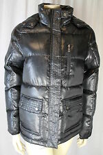 Ladies Puffa Black Grayling Hooded Zip Front Coat/Jacket Size Small