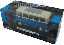 Welly 1962 VW Volkswagen Bus Microbus 1:18 Diecast Cream / Blue 12531