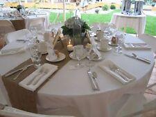 "13"" x 108"" Burlap Table Runner 100% Natual Refined Jute Squared end Wedding"