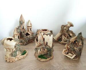 Handmade Aquarium Decor - Heavy Ceramic - Castle / Column / Amphora / Ship Wreck